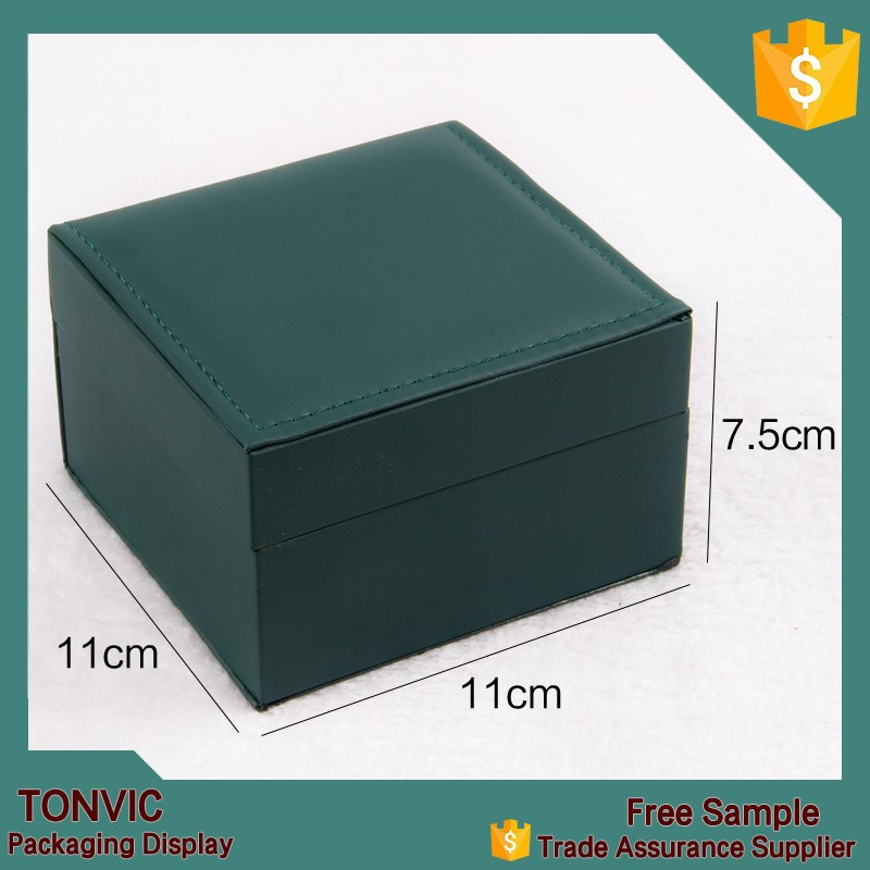 Unique Leather Handmade Manufacturer Watch Packaging Gift Box With Beige Velvet Pillow