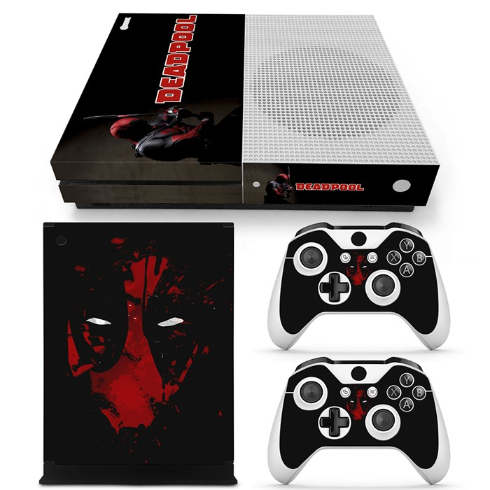 Protective full cover skin sticker for XboxOne S console and 2 controller skin