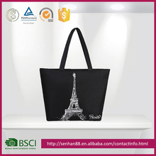 2017 pratical fashion leisure polyester low price canvas bag
