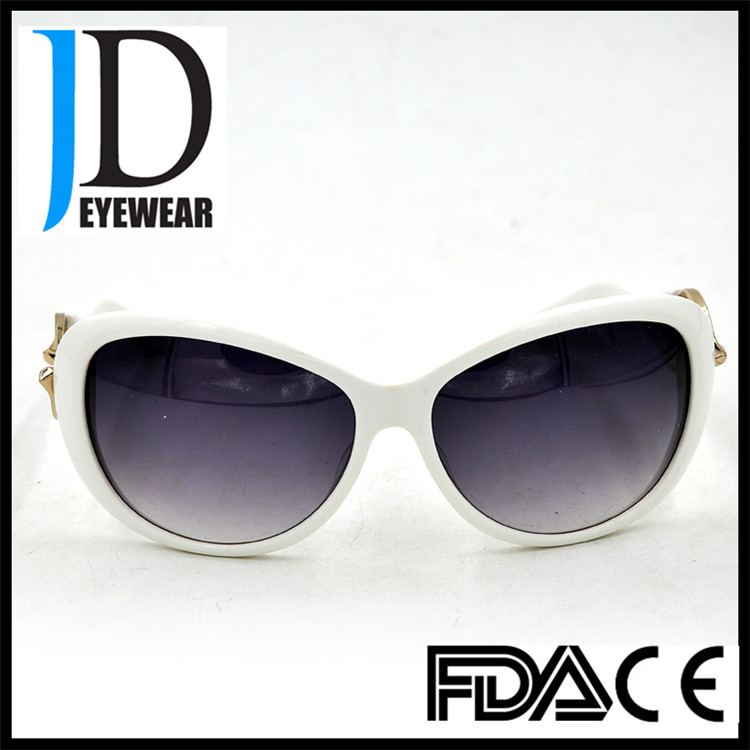Fashion Women Sun Glasses With Gradient Lens And White Big ...