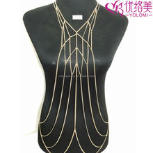 Gold Plated Necklace Sexy Body Chain Yiwu Jewelry Non-allergenc Body Jewelry Chain YMBD1-292