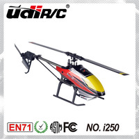 UDIRC Single Rotor Blade (Flybarless) Electric 6CH mini rc helicopter I250