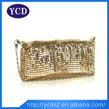 Wholesale sequins ladies gold evening clutch bag
