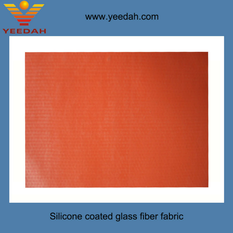 Silicone rubber coated fiberglass cloth for fire blanket