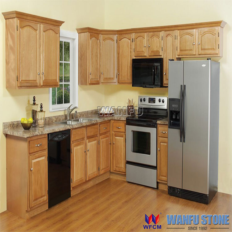 Dark cherry finish and Maple solid wood Kitchen cabinet