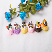 NEW craft idea squishy imitation egg tart with fruit with accessories/Yiwu sanqi craft factory