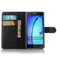 New Business Design PU Leather Flip Case With Card Slot Wallet Cover For Samsung Galaxy On5 Case