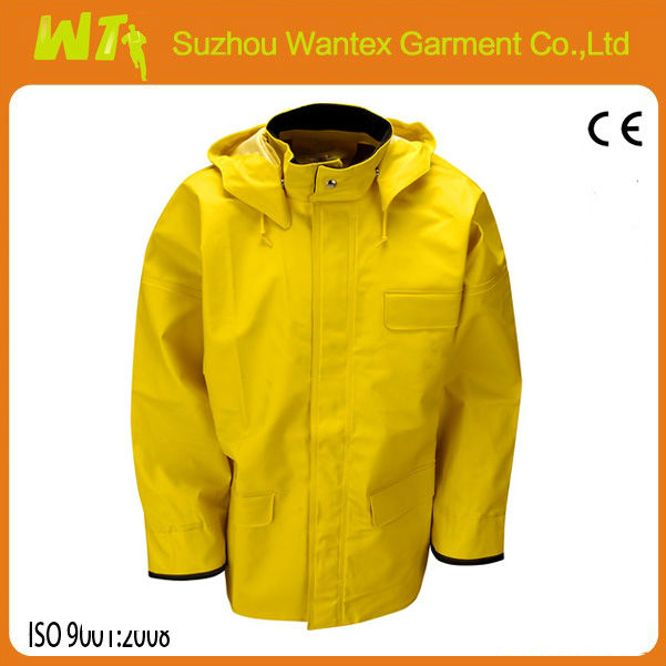 100% polyester welded seams pu coated rain jacket