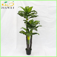 indoor home artificial big leaeves plant and trees sale palstic trunk