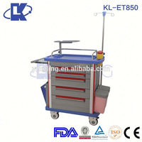 emergency crash cart trolley plastic emergency cart equipment trolley cart new products medical trolley bag
