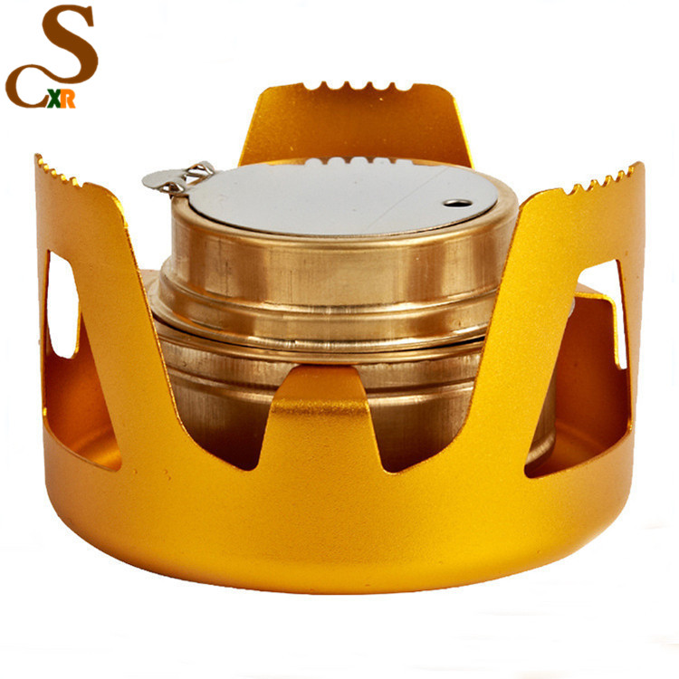 best selling products Copper Alloy Portable Mini Spirit Burner Alcohol Stove Outdoor Camping Stove