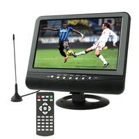 9.5 inch TFT LCD Color Portable Analog TV with Wide View Angle, Support SD/MMC Card, USB Flash disk, AV In, FM Radio function