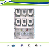 7 year OEM experience professional electric meter box cover and box for 6 single phase prepayment electric meter