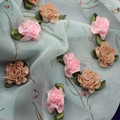 Custom peony sew-on embroidery fashion lace collar for decoration