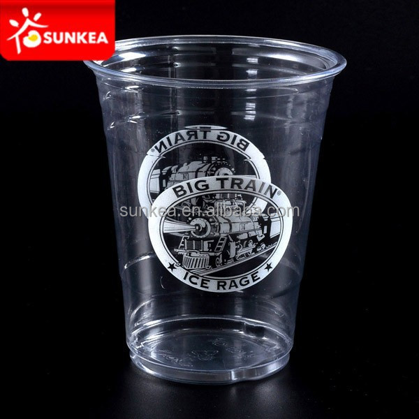 PET plastic cold drinks beer glass