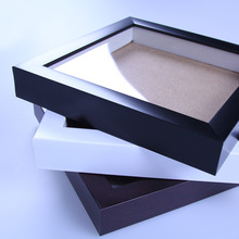 Black frame and MDF backboard 12x18 PS square wholesale shadow box picture frame