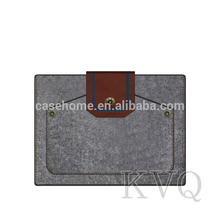 Hot design Wool Felt Tablet Pouch For iPad 5/air 2 Sleeve, 6~13 inch tablet bags