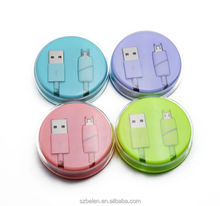 Candy Crystal Box Usb To Micro Usb Cable Usb Printer Cable With Led Indicator Light For Samsung And All Android Phones