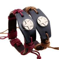2 Colors Genuine Leather Wristband Bracelet