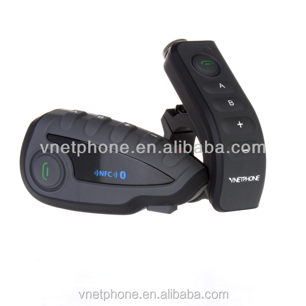 High quality motorcycle helmet bluetooth headset intercom with remote control