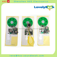 Custom design greeting card sound chip with buttons
