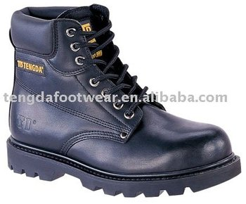 "6"" leather upper safety boots"