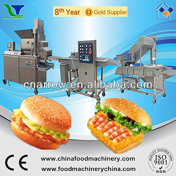 Automatic Shrimp Meat Hamburger Burger Patty Making Machine
