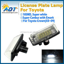2x Error Free LED License Plate Light For 2003~2009 TOYOTA Crown