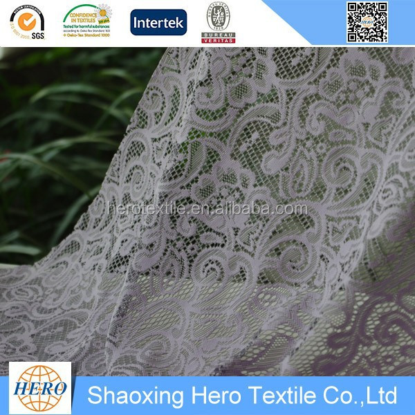 Newest design polyester lace using crochet lace curtains pattern