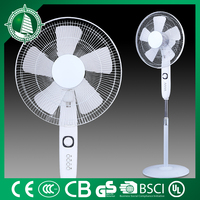 "Salable FS-40-337 no noise motor 5AS blades strong cool wind 16"" electric stand Christmas gift fan"