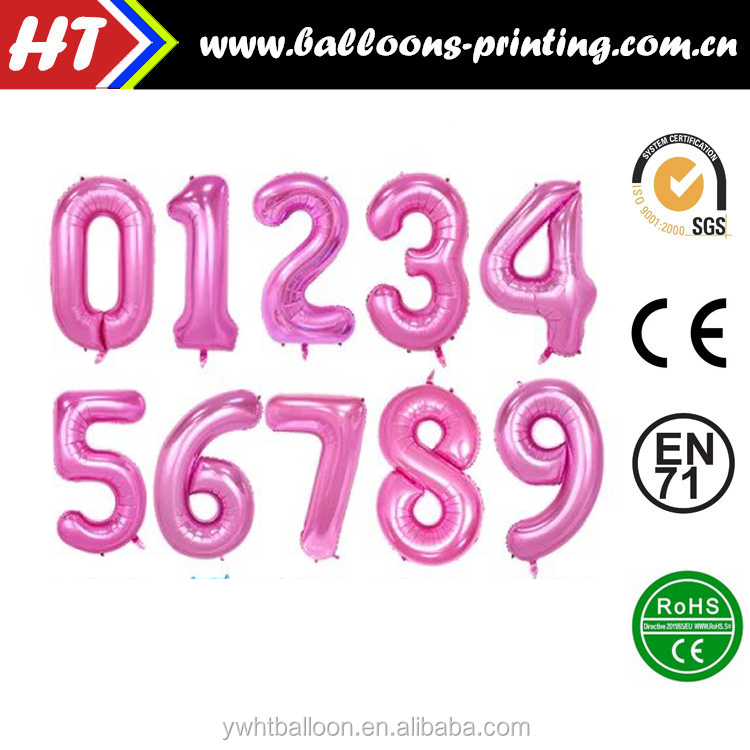 40inch Number Balloon Helium Foil Pink Number Balloon Birthday/Wedding /events/Decor