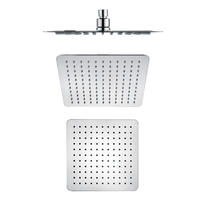 Classic design Stainless stell square slim shower head bathroom accessories