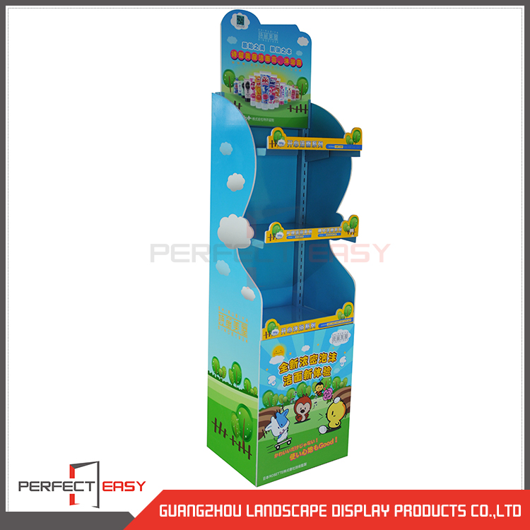 Popular customized children's stamp albums floor display stand/albums floor display rack/albums metal display shelf
