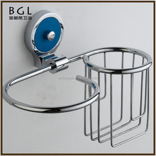 Simple High quality Zinc Alloy And Glass Polished Chrome Bathroom Accessory Wall Mounted Toilet Bowl Brush And Paper Roll Holder