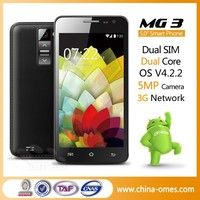 Top sell 3g MTK 6572 5 inch sale in mobile phone