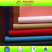 Genuine cow hide pu leather fabric for bags and garment