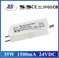 35W 1500mA 24V AC DC Constant Voltage Waterproof LED Driver Power Supply with UL CUL TUV CB CE IP65