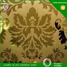 Famous brand large stock satin finish decorative stainless steel sheet for modular home