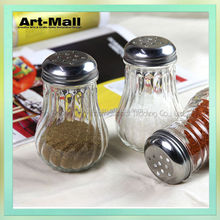 Hot sale pure glass spice container with aluminum tap wholesales