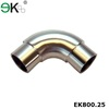 Stainless steel glass handrail connector elbow fitting