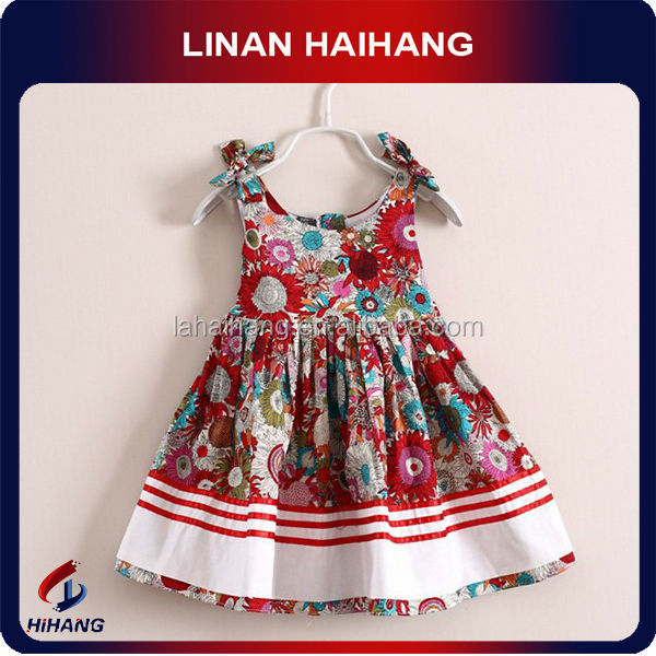 Sling bow flower prints kids anarkali