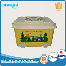 Wham Storage 32L Nice Plastic Storage Box With Wheels and Clear white lid