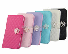 Woolen wallet leather for Galaxy S5, diamond leather case for Samsung G900