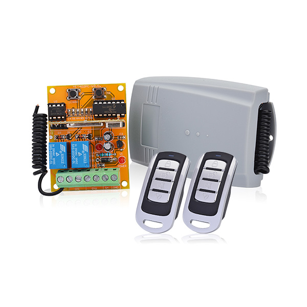 high security 2 Channel DC12V to 24V Universal receiver kit 433 315 wireless transmitter for garage door opener