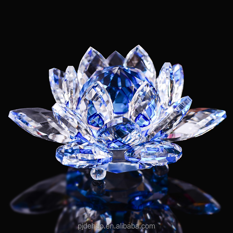Closeout Stock Large Crystal Lotus Crystal Gift Items