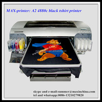 MAX large 8 color t shirt flatbed printer A2 dtg printing machine for t-shirt