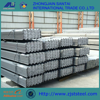 Equal & Unequal AISI steel 45 degree angle iron hot dipped rolled galvanized angle iron