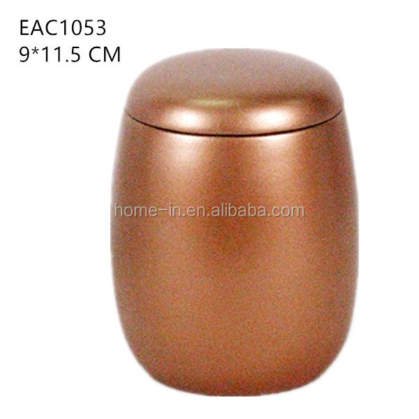 Copper jar / tin with scented candles wholesale