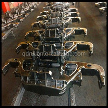 Steel Casting Side Frame and Bolster for Railcar Bogie, railway spare part