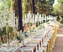 wedding decoration table top chandeliers 9 arms hurricane crystal candelabra wholesale